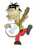 Banjo player. Hand drawn and computer rendered banjo playing cartoon or animation character from southern usa Royalty Free Stock Photos