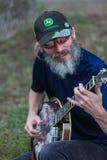 Banjo Player at Iowa State Fair Royalty Free Stock Image
