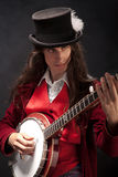Banjo player Royalty Free Stock Photos