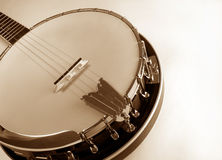 Banjo Retro. Banjo head at angle Stock Image