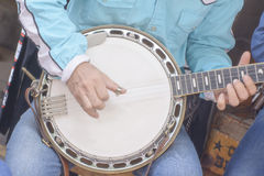 Banjo is string instrument its is musical instrument Stock Image