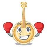 Banjo vecchio d'inscatolamento nella mascotte di forma illustrazione vettoriale
