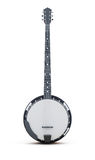 Banjo vertically on a white background. 3d rendering royalty free illustration