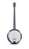 Banjo vertikal auf einem weißen Hintergrund Wiedergabe 3d lizenzfreie stockfotos