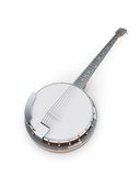 Banjo on a white Stock Images