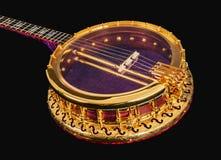 banjos 5-string sur le fond noir photographie stock