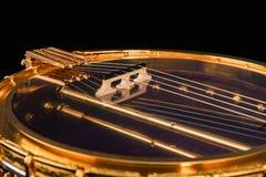 banjos 5-string sur le fond noir photographie stock libre de droits