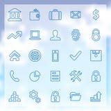 25 banków ikon ustawiających Zdjęcia Royalty Free