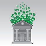 Banków Spławowi Dolarowi znaki ilustracja wektor