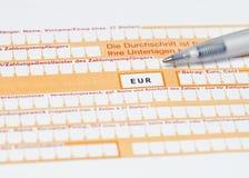 Banküberweisungsformular zur Fülle Lizenzfreies Stockfoto
