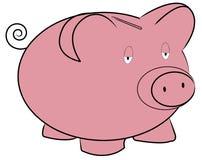 bank świnka smutny ilustracja wektor