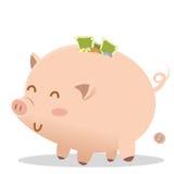 bank świnka tłuszczu Zdjęcie Royalty Free
