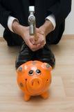 bank świnki upadanie zdjęcie royalty free