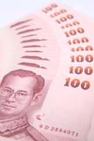 Bank  100  Baht of Thailand. Royalty Free Stock Photos