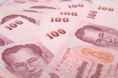 Bank  100  Baht of Thailand. Stock Photography