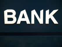 Bank. Business corporation office sign Royalty Free Stock Image