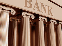 Bank. Illustration of a traditional bank with classic columns Royalty Free Stock Photos