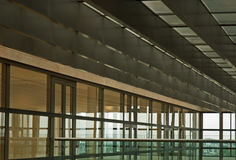 The Bank. Interior of glass and steel: modern architecture, Amsterdam Royalty Free Stock Image