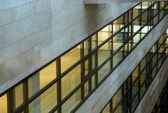 The Bank. Interior of glass and steel: modern architecture, Amsterdam Royalty Free Stock Photography