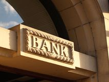 Bank. Sign Royalty Free Stock Images