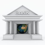 Bank 3d icon Royalty Free Stock Images