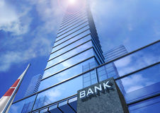 Bank. Tower rising into the sky Stock Photo