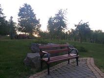 Bank-Abend entspannen sich Weißrussland Loshyca lizenzfreies stockfoto