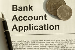 Bank Account Application Stock Photos