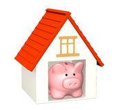 Bank account for buying a house Stock Image