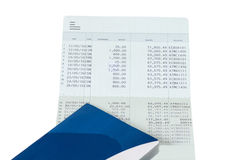 Bank Account Passbook Statement on isolated. Background Stock Photography