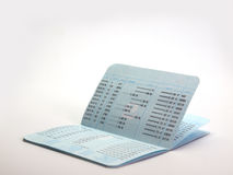 Bank account passbook. (View with copy space Royalty Free Stock Photos