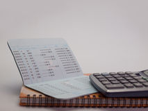 Bank account passbook. (View with copy space Stock Images