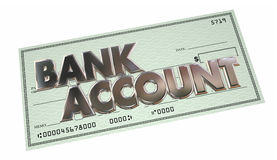 Bank Account Savings Checking Money Funds Words. 3d Illustration Stock Photo