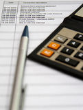 Bank account statements Royalty Free Stock Images