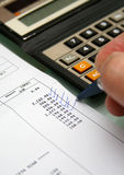 Bank account statements Stock Image