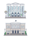 The Bank and the administration building Royalty Free Stock Photography