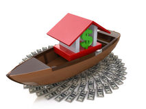 Bank afloat Stock Photos