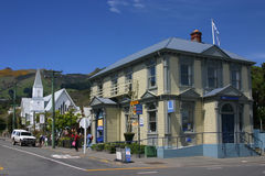 Bank in Akaroa Stock Photo