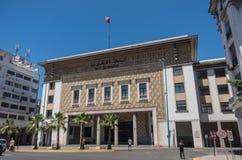 Bank al Maghrib historical building in Casablanca city center, M Stock Photo