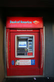 A BANK OF AMERICA ATM MACHINE Stock Photo
