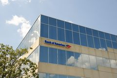 Bank of America Banking Center Sign Royalty Free Stock Photography
