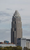 Bank of America-Charlotte NC. Bank of America in Charlotte NC on March 19 2016 with the Le Meridien bldg in the front Stock Image