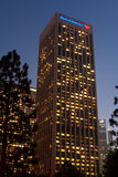 Bank of America, Citibank, and KPMG Buildings. Los Angeles, USA - October 20, 2011: A major section of the Financial district of downtown Los Angeles is is Royalty Free Stock Photography