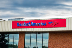 Bank of America cloudy background Stock Photos