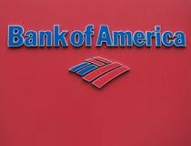 Bank of America la insignia Foto de archivo
