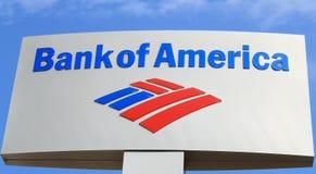 Bank of America la muestra Foto de archivo