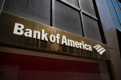 Bank of america logo Royalty Free Stock Photo