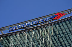 Bank of America, London. London, Canary Wharf: Bank of America offices building Royalty Free Stock Image