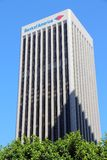 Bank of America Plaza. LOS ANGELES, USA - APRIL 5, 2014: Bank of America Plaza skyscraper in Los Angeles. The building is 735 ft (224 m) tall and is the 6th Royalty Free Stock Image