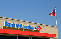 Bank of America sign royalty free stock images